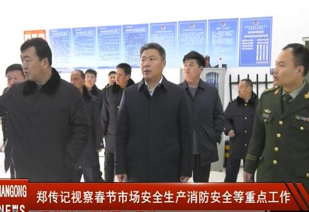 市委副书记、市长郑传记视察春节市场、安全